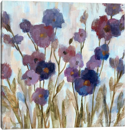 Abstracted Florals In Purple  Canvas Print #WAC1343