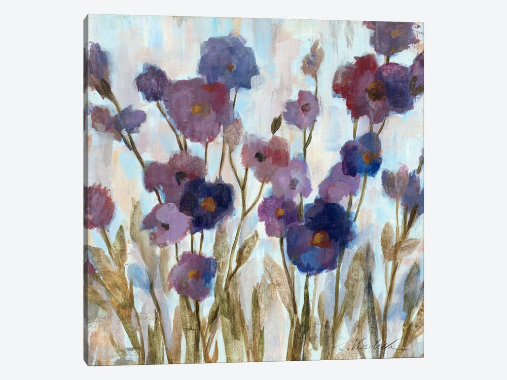 Abstracted Florals In Purple  by Silvia Vassileva 1-piece Canvas Art Print