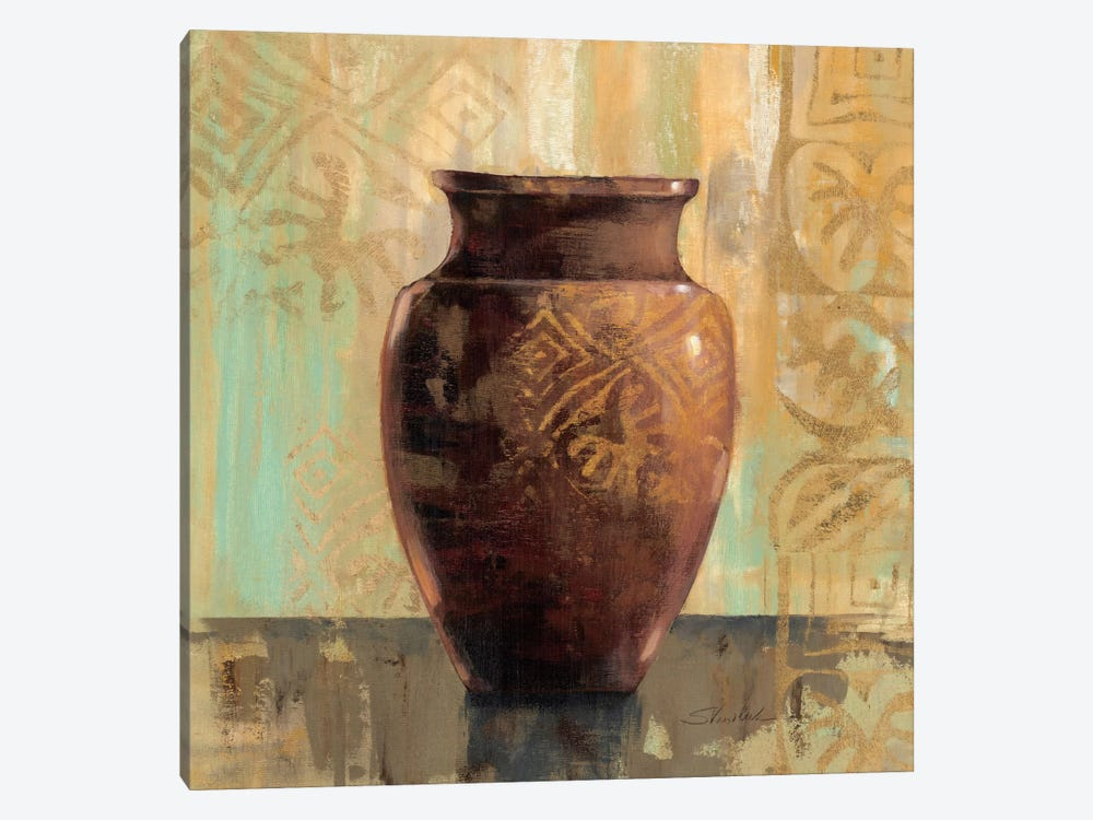 Glazed Pot II Decorative Accents  by Silvia Vassileva 1-piece Canvas Artwork