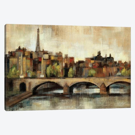 Paris Bridge I Spice  Canvas Print #WAC1352} by Silvia Vassileva Canvas Print