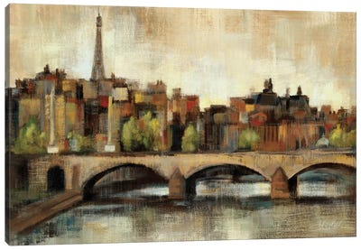 Paris Bridge I Spice  Canvas Print #WAC1352
