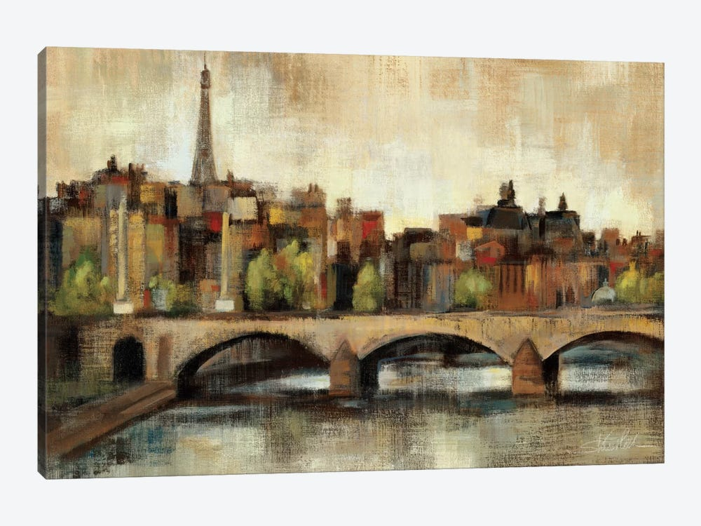 Paris Bridge I Spice  by Silvia Vassileva 1-piece Art Print