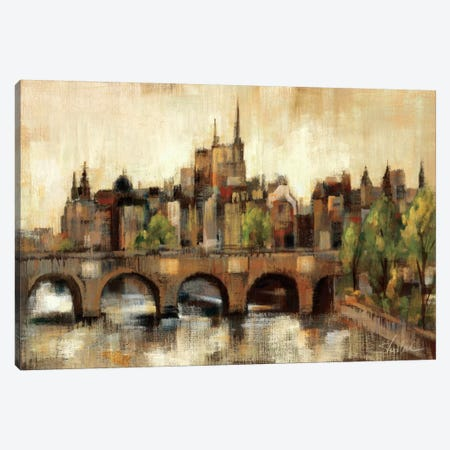 Paris Bridge II Spice  Canvas Print #WAC1353} by Silvia Vassileva Canvas Art Print