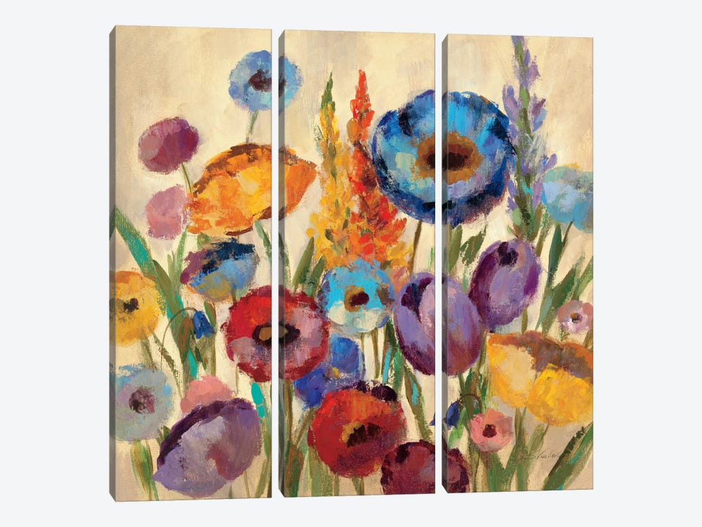 Garden Hues II 3-piece Canvas Print