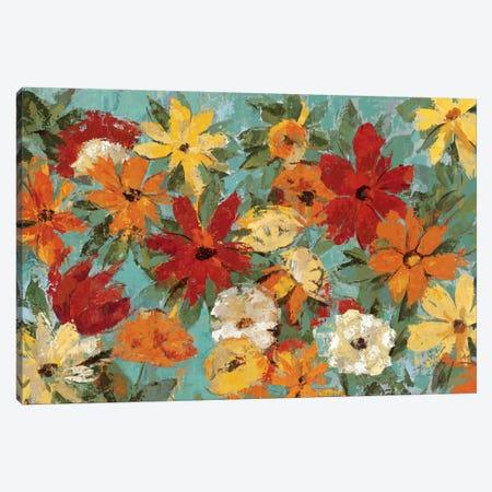 Bright Expressive Garden  Canvas Print #WAC1362} by Silvia Vassileva Canvas Artwork