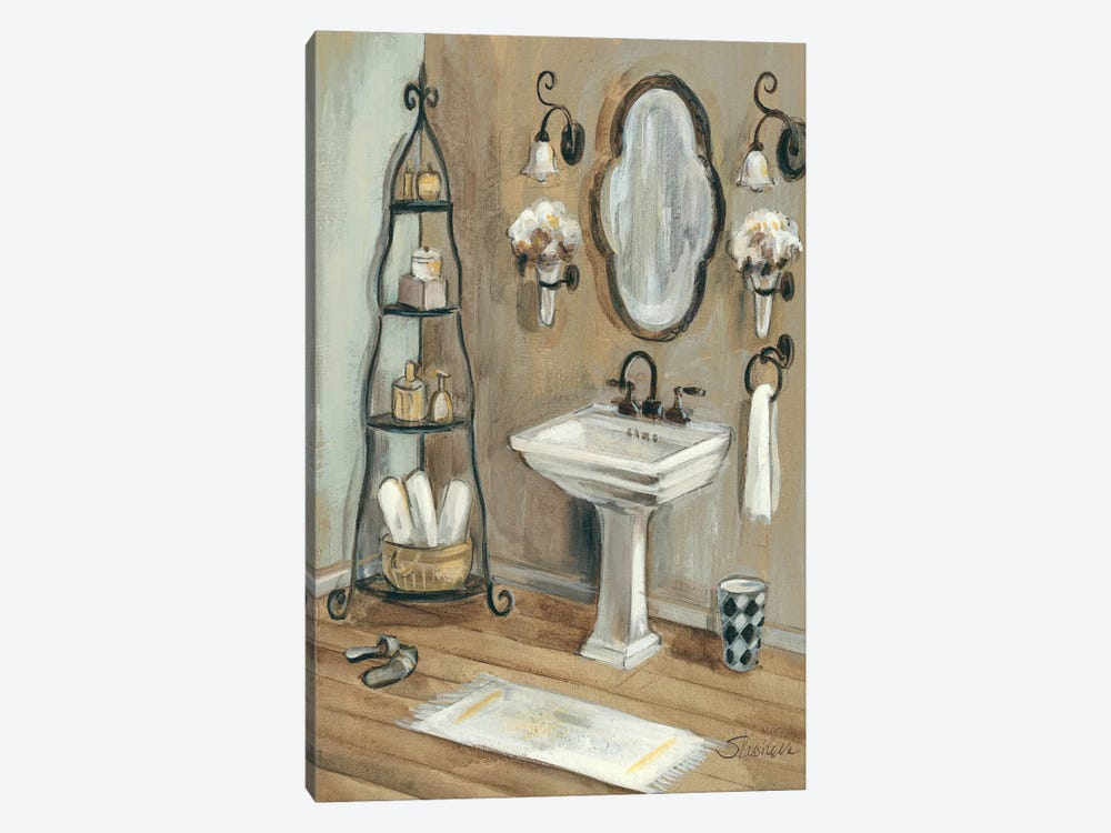 French Bath I by Silvia Vassileva 1-piece Canvas Print
