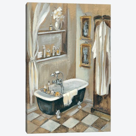French Bath III Canvas Print #WAC1369} by Silvia Vassileva Canvas Art