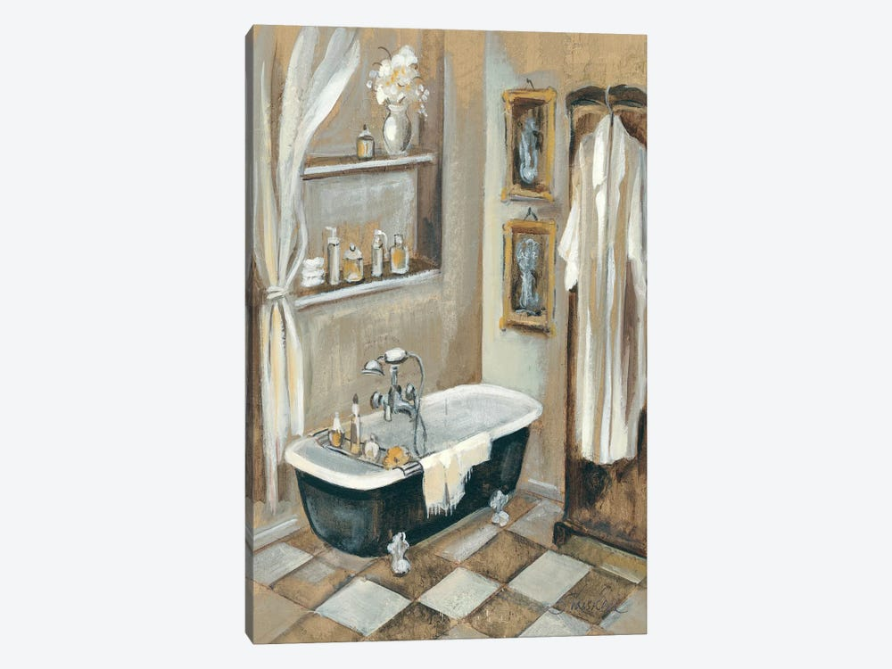 French Bath III by Silvia Vassileva 1-piece Canvas Art Print