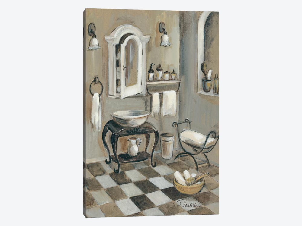 French Bath IV by Silvia Vassileva 1-piece Canvas Art Print