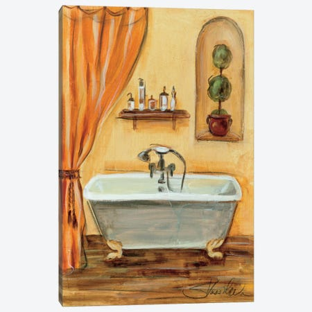 Tuscan Bath I Canvas Print #WAC1376} by Silvia Vassileva Canvas Wall Art