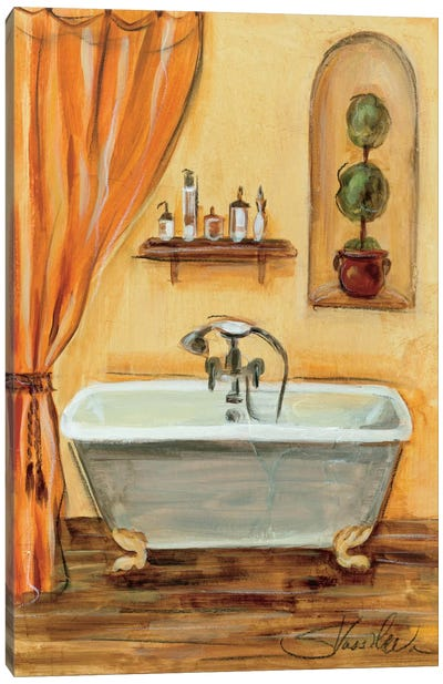 Tuscan Bath I Canvas Print #WAC1376
