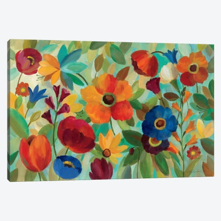 Summer Floral V  Canvas Print #WAC1388} by Silvia Vassileva Canvas Artwork