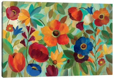 Summer Floral V  Canvas Art Print