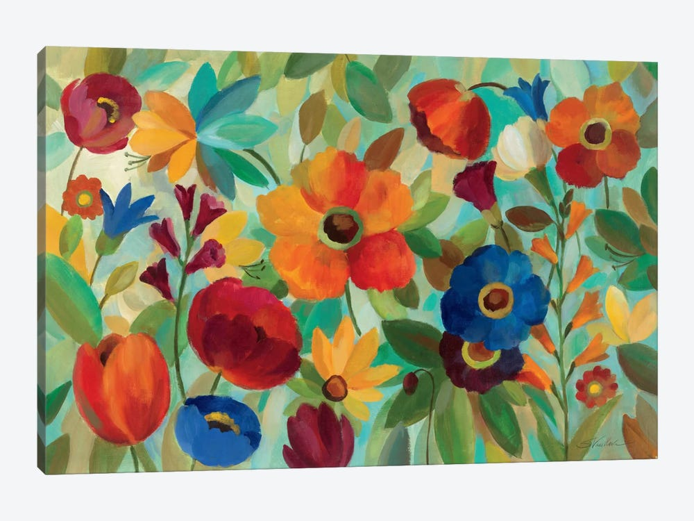 Summer Floral V 1-piece Canvas Artwork
