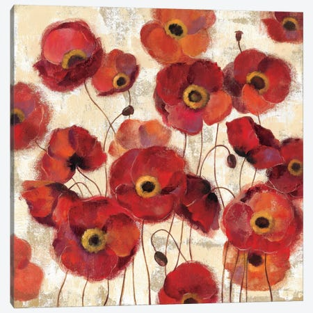 Bold Poppies  Canvas Print #WAC1390} by Silvia Vassileva Canvas Art Print