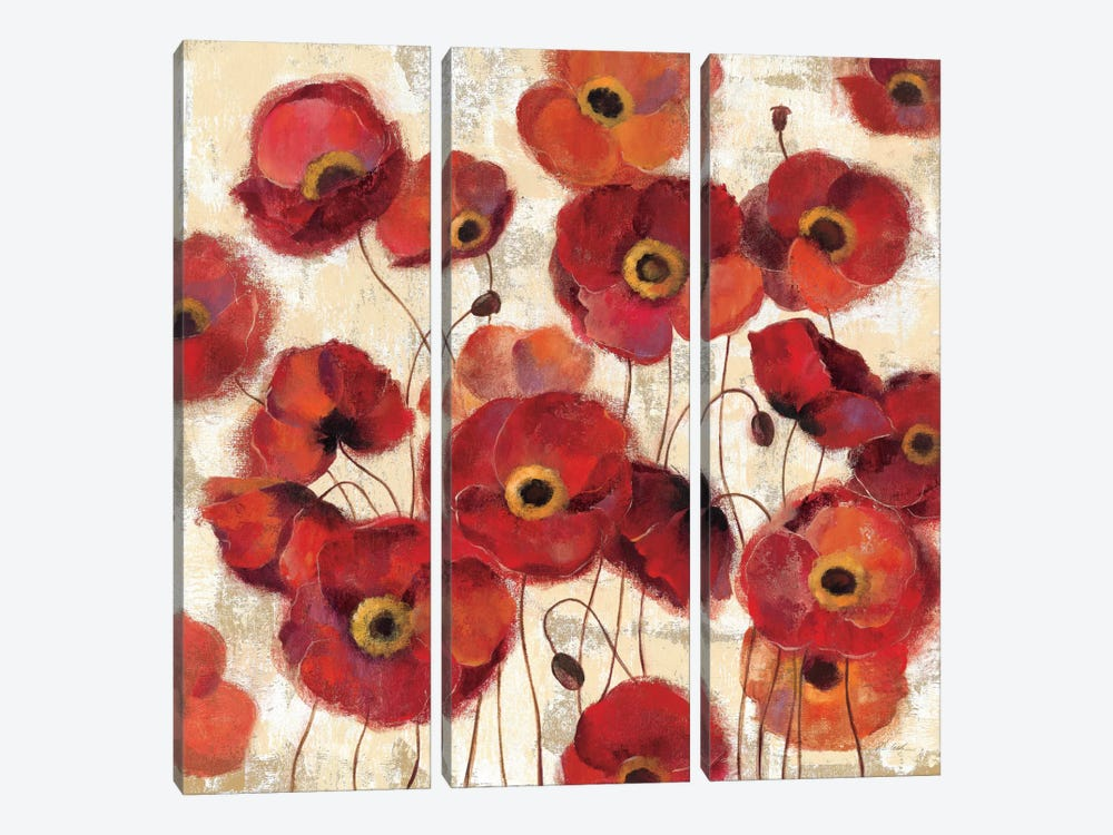 Bold Poppies by Silvia Vassileva 3-piece Canvas Print