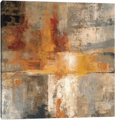 Silver and Amber Crop  by Silvia Vassileva Canvas Art Print
