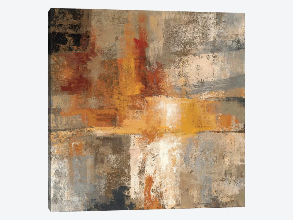 Silver and Amber Crop  by Silvia Vassileva 1-piece Canvas Art
