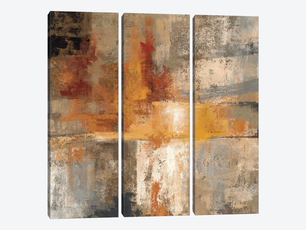 Silver and Amber Crop  by Silvia Vassileva 3-piece Canvas Art