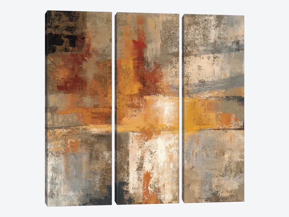 Silver and Amber Crop  by Silvia Vassileva 3-piece Canvas Art