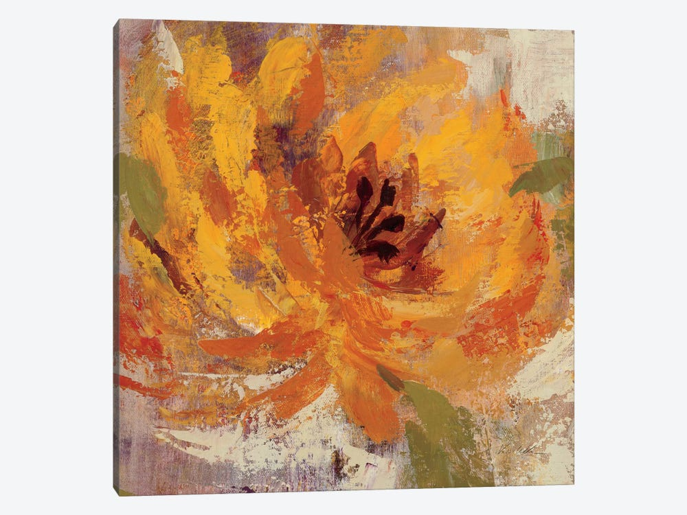 Fiery Dahlias I by Silvia Vassileva 1-piece Art Print