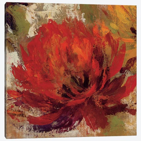 Fiery Dahlias II  Canvas Print #WAC1397} by Silvia Vassileva Canvas Wall Art