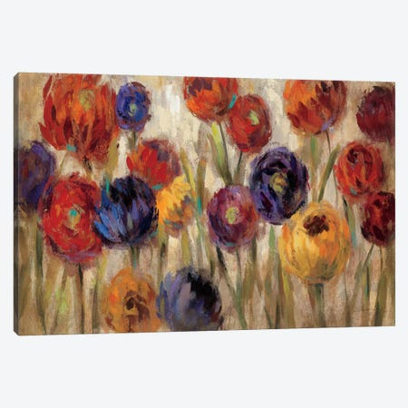 Asters and Mums  Canvas Print #WAC1401} by Silvia Vassileva Art Print