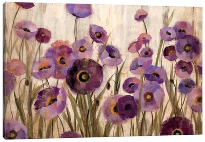 Pink and Purple Flowers  by Silvia Vassileva Canvas Art Print