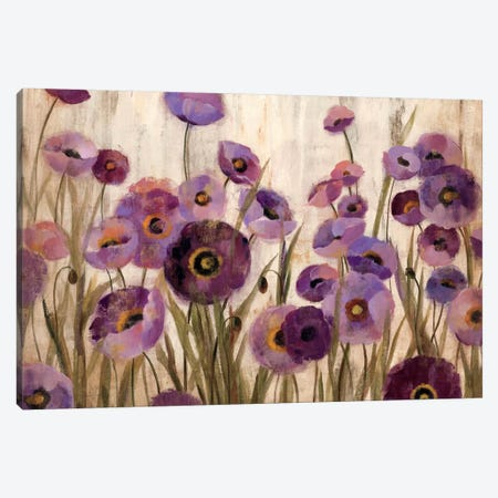 Pink and Purple Flowers  Canvas Print #WAC1403} by Silvia Vassileva Canvas Print
