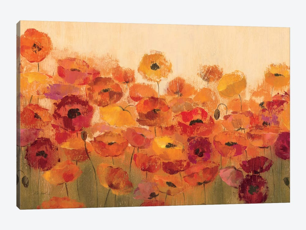 Summer Poppies by Silvia Vassileva 1-piece Canvas Art Print