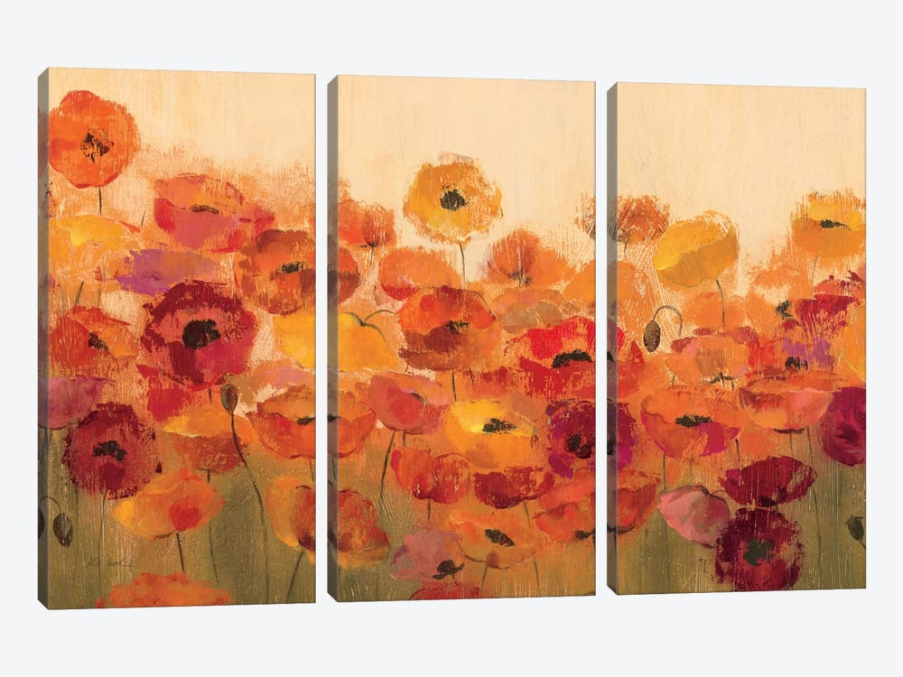 Summer Poppies  by Silvia Vassileva 3-piece Art Print