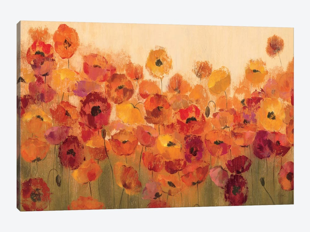 Summer Poppies II by Silvia Vassileva 1-piece Canvas Print