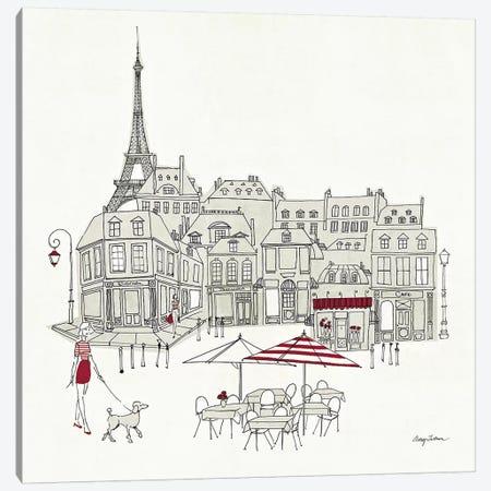 World Cafe II - Paris Red Canvas Print #WAC140} by Avery Tillmon Art Print