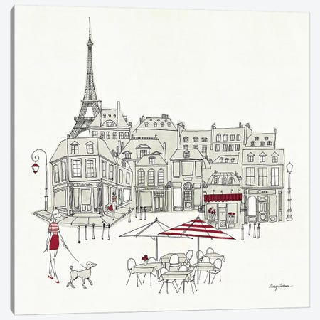 World Cafe II - Paris Red Canvas Print #WAC140} by Avery Tillmon Art Print