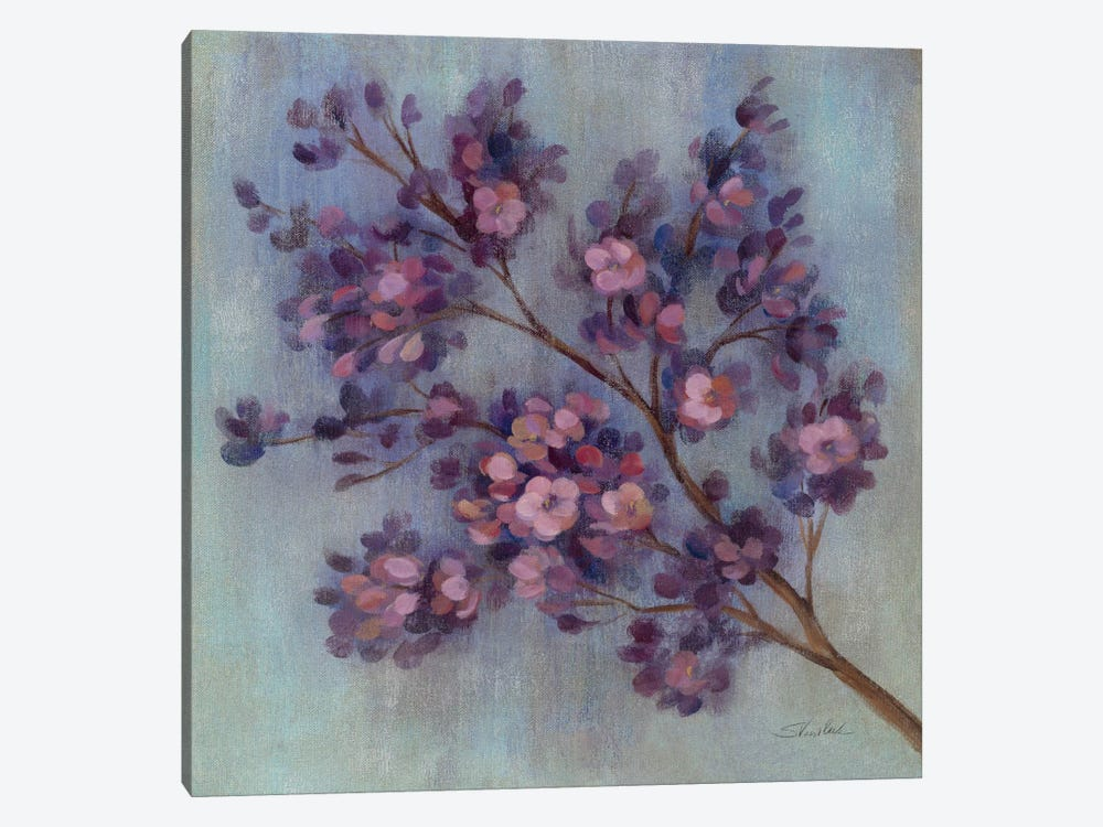 Twilight Cherry Blossoms II  by Silvia Vassileva 1-piece Canvas Artwork