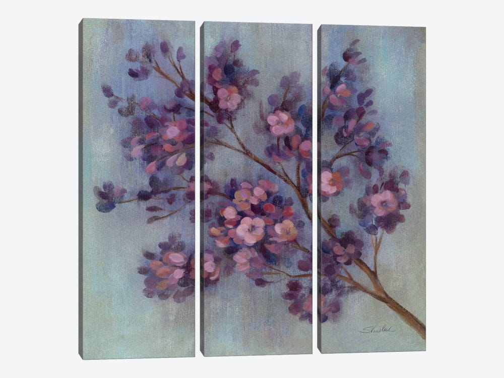 Twilight Cherry Blossoms II by Silvia Vassileva 3-piece Canvas Wall Art