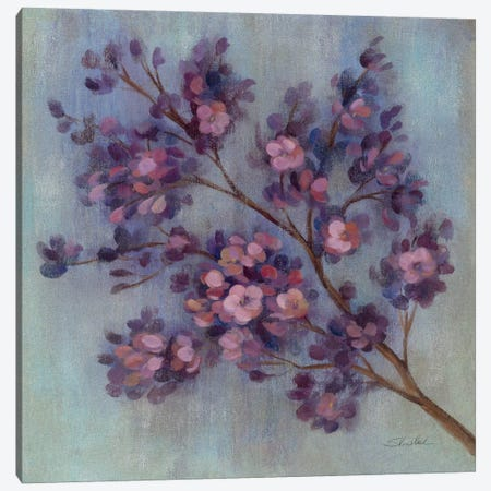 Twilight Cherry Blossoms II  Canvas Print #WAC1410} by Silvia Vassileva Canvas Artwork