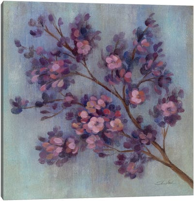 Twilight Cherry Blossoms II  Canvas Art Print