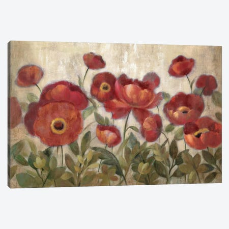 Daydreaming Flowers Red  Canvas Print #WAC1411} by Silvia Vassileva Canvas Wall Art