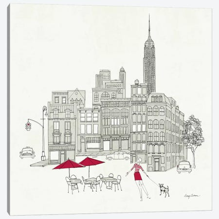 World Cafe III - NYC Red Canvas Print #WAC141} by Avery Tillmon Canvas Art Print