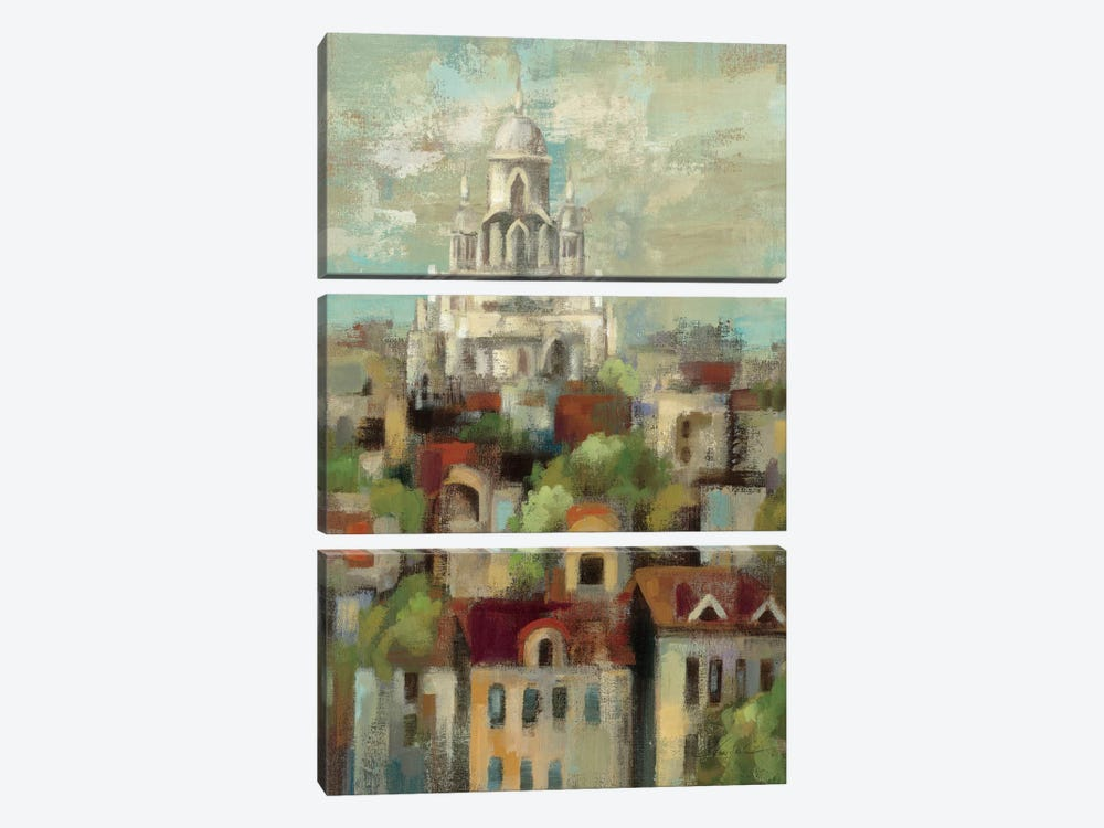 Spring in Paris I  by Silvia Vassileva 3-piece Canvas Artwork
