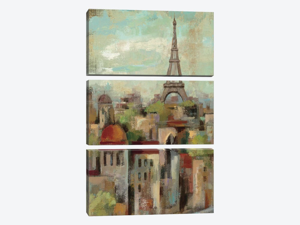 Spring in Paris II  by Silvia Vassileva 3-piece Art Print