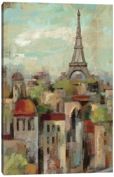 Spring in Paris II  by Silvia Vassileva Canvas Art Print