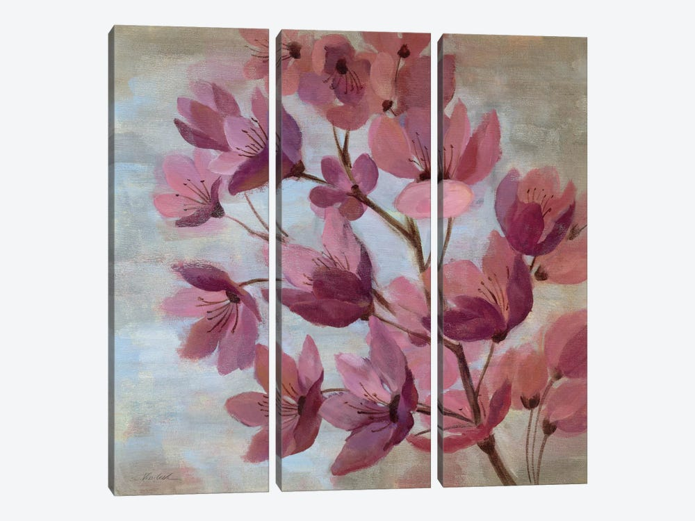 April Blooms I by Silvia Vassileva 3-piece Canvas Wall Art