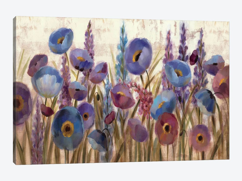Lupines and Poppies  by Silvia Vassileva 1-piece Canvas Artwork