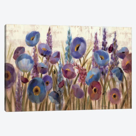 Lupines and Poppies  Canvas Print #WAC1427} by Silvia Vassileva Canvas Art