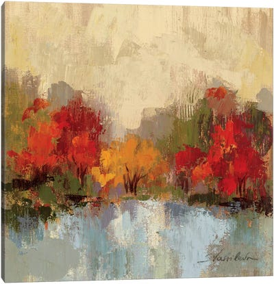 Fall Riverside I  by Silvia Vassileva Canvas Art Print