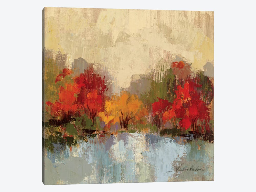 Fall Riverside I by Silvia Vassileva 1-piece Canvas Print