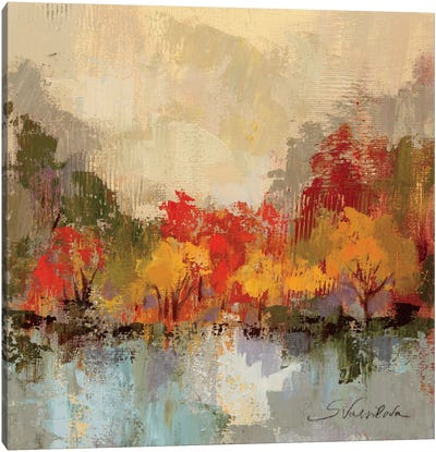 Fall Riverside II Canvas Art Print
