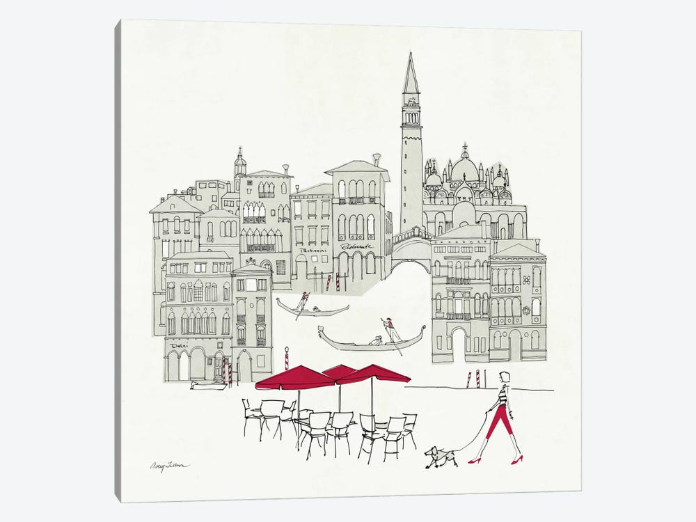 World Cafel IV - Venice Red by Avery Tillmon 1-piece Art Print